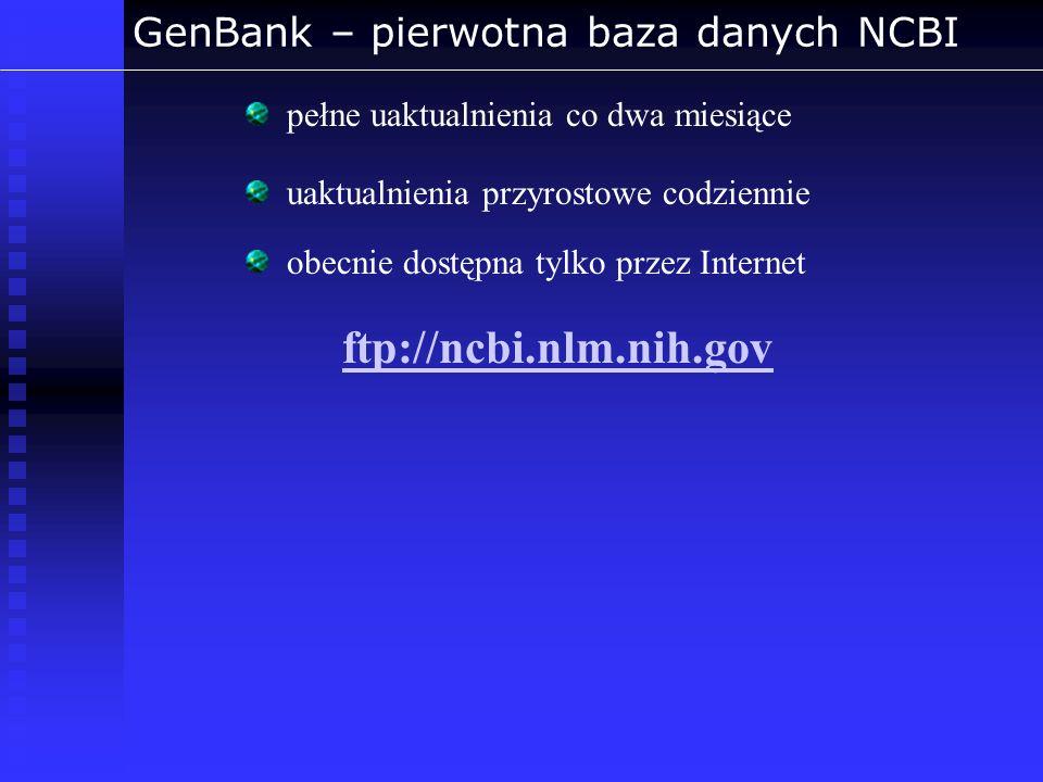 GenBank – pierwotna baza danych NCBI