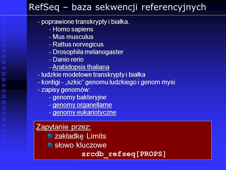 RefSeq – baza sekwencji referencyjnych