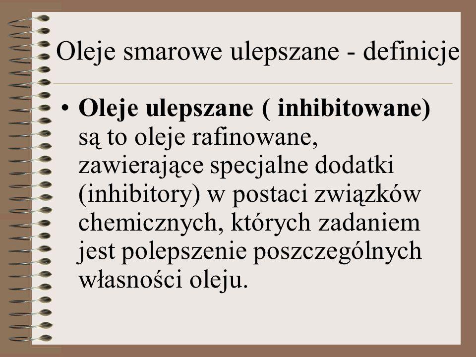 Oleje smarowe ulepszane - definicje