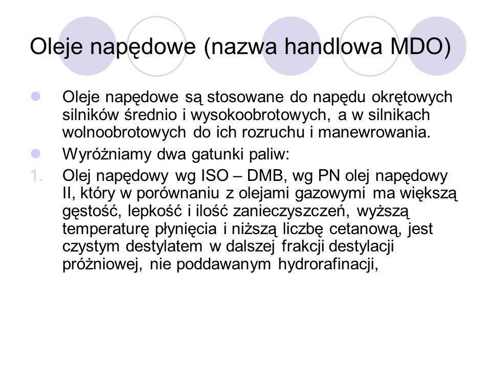 Oleje napędowe (nazwa handlowa MDO)