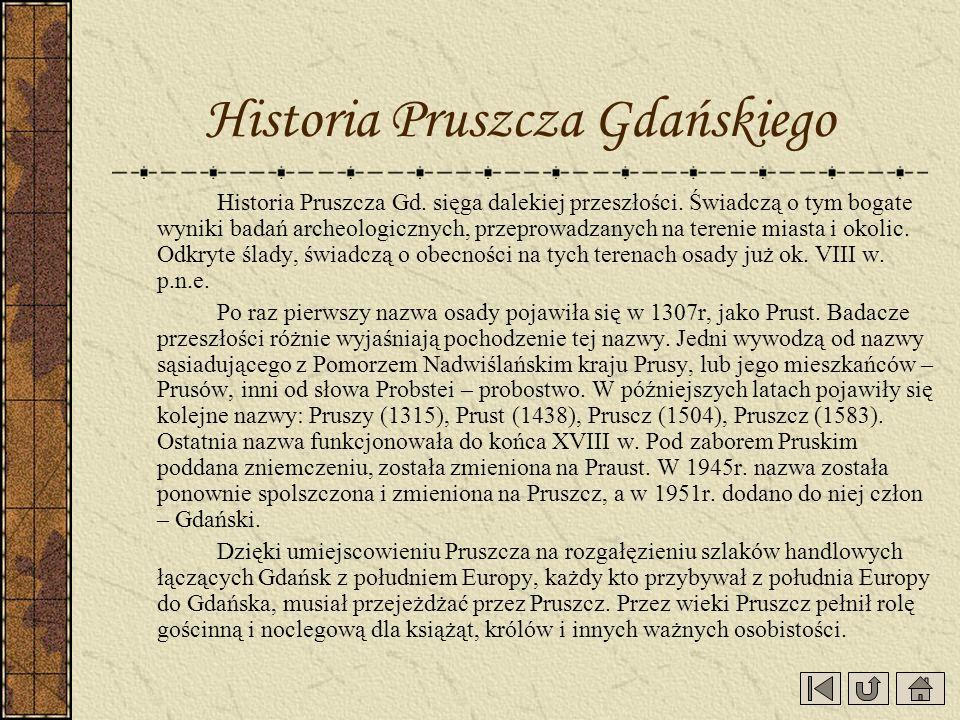 Historia Pruszcza Gdańskiego