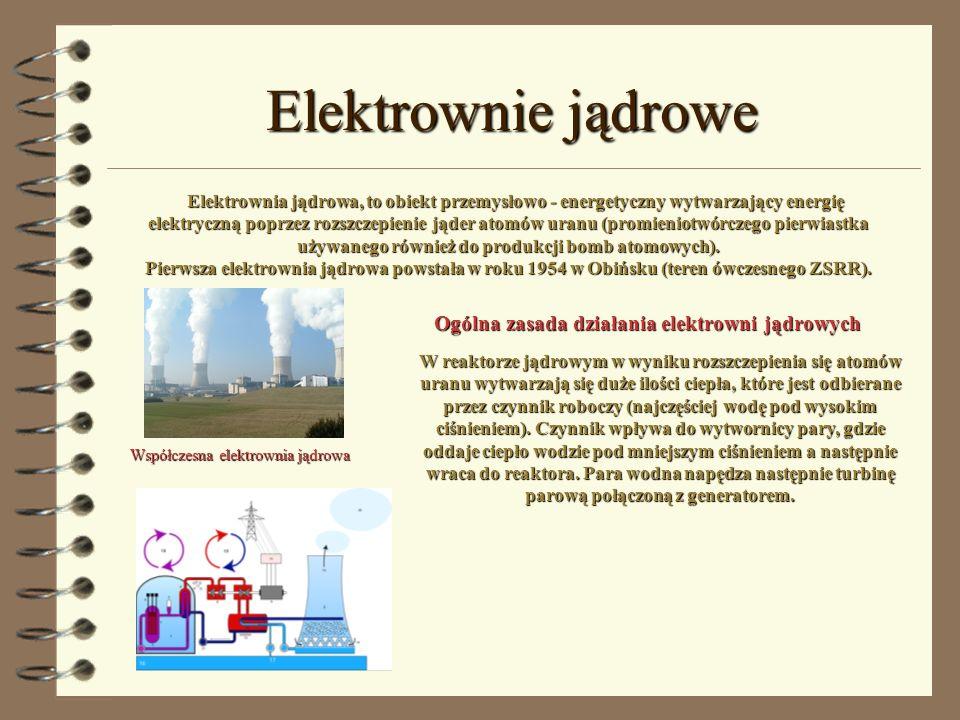 Elektrownie jądrowe Ogólna zasada działania elektrowni jądrowych