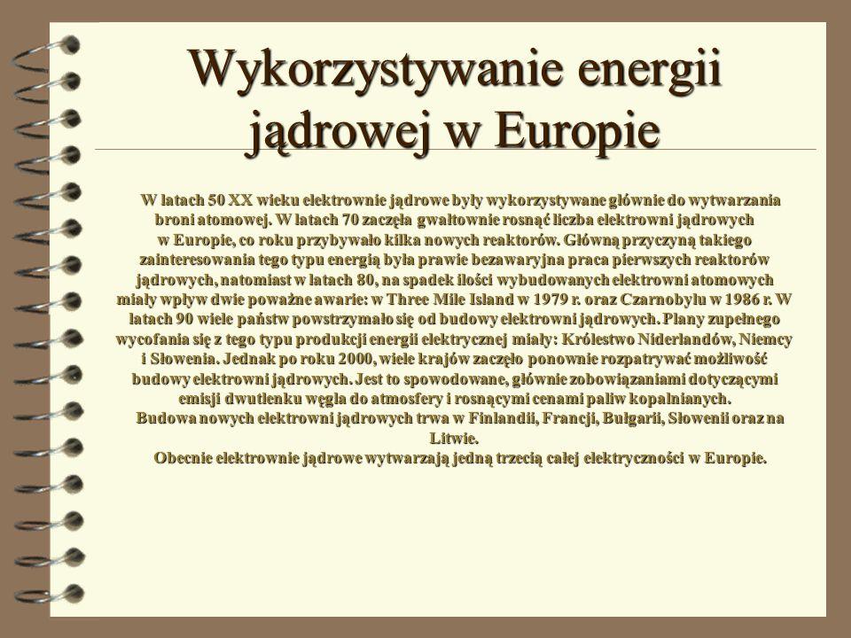 Wykorzystywanie energii jądrowej w Europie