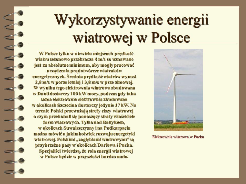Wykorzystywanie energii wiatrowej w Polsce
