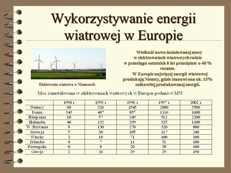 Wykorzystywanie energii wiatrowej w Europie