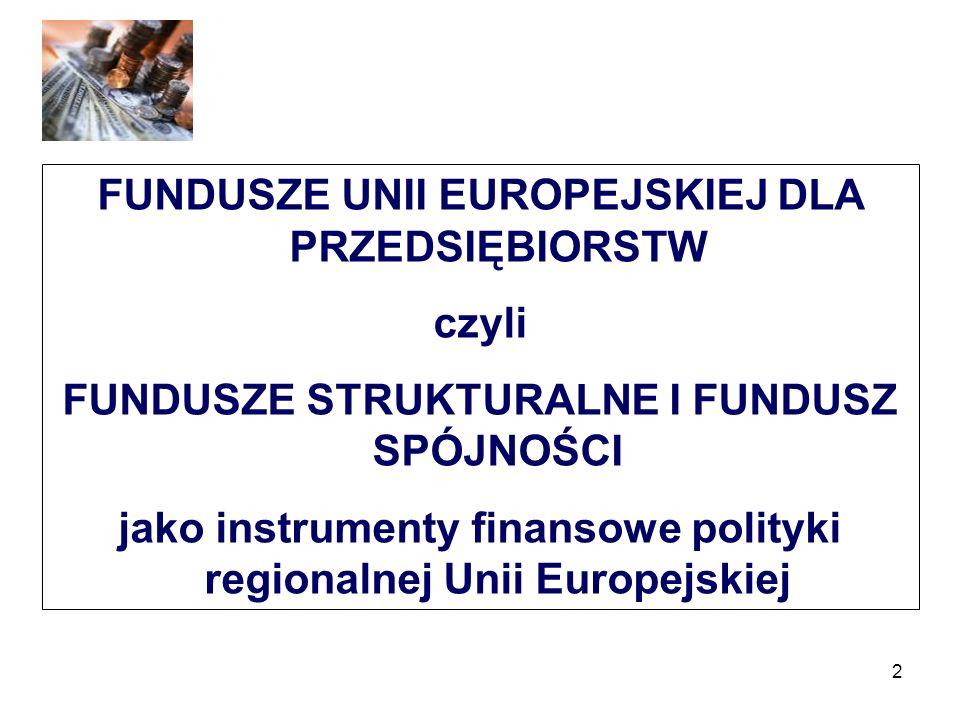 FUNDUSZE UNII EUROPEJSKIEJ DLA PRZEDSIĘBIORSTW czyli