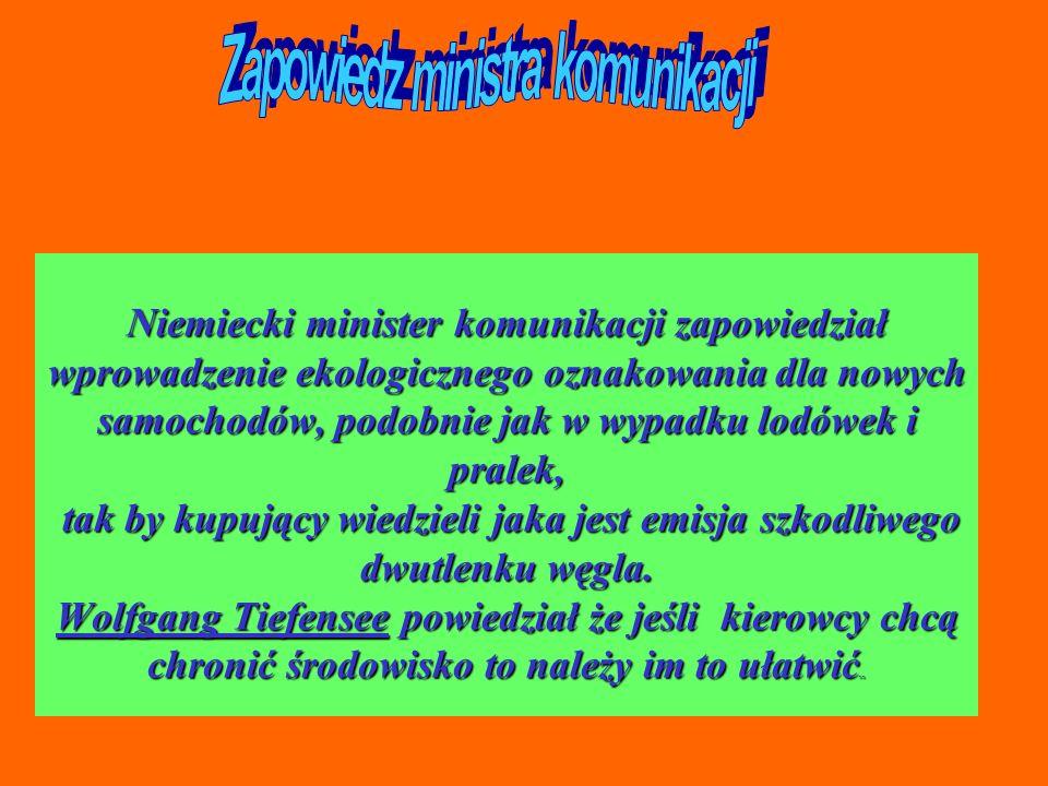 Zapowiedz ministra komunikacji