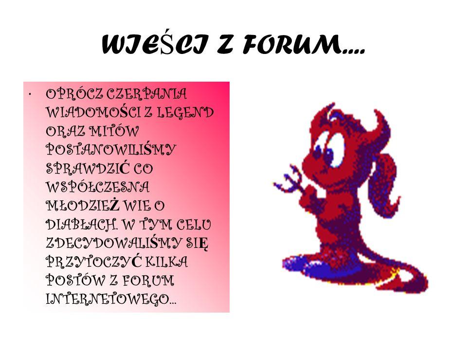 WIEŚCI Z FORUM....