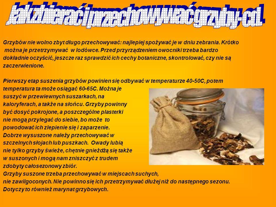 Jak zbierać i przechowywać grzyby-cd.