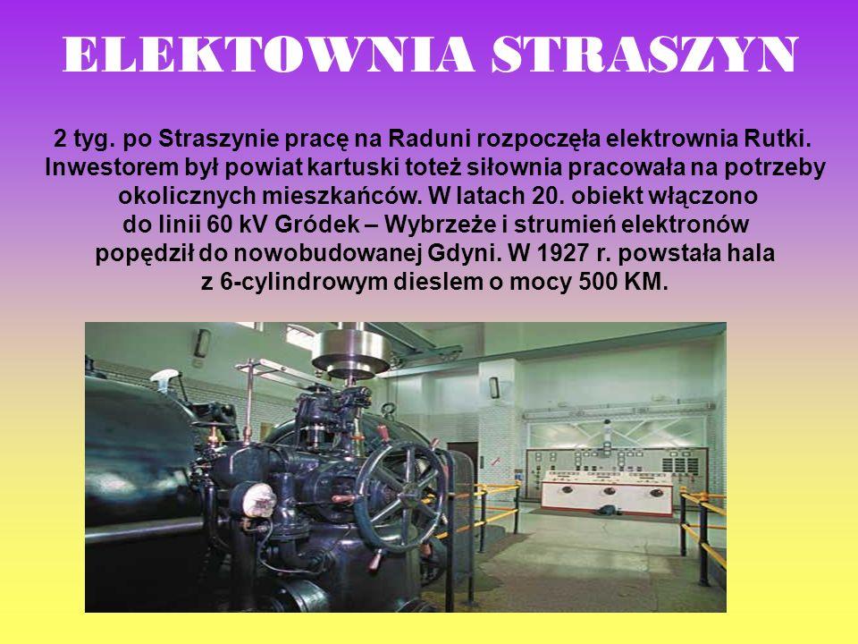 ELEKTOWNIA STRASZYN 2 tyg. po Straszynie pracę na Raduni rozpoczęła elektrownia Rutki.