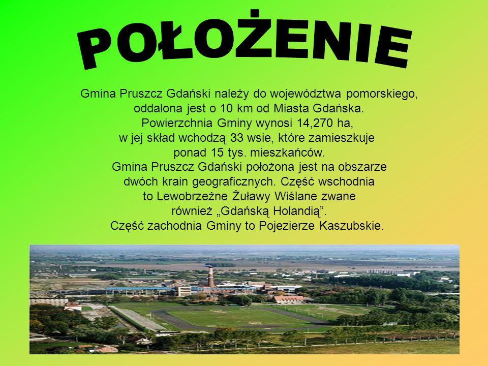 POŁOŻENIE Gmina Pruszcz Gdański należy do województwa pomorskiego,