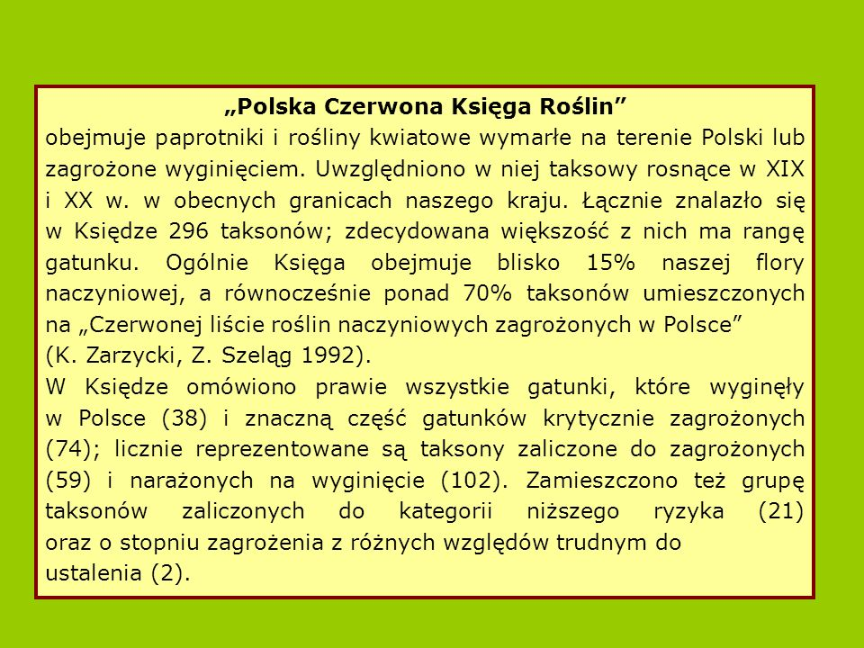 """""""Polska Czerwona Księga Roślin"""