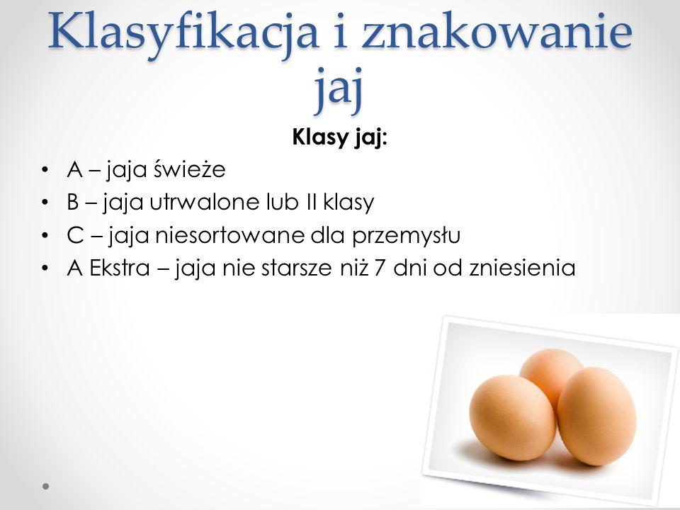 Klasyfikacja i znakowanie jaj