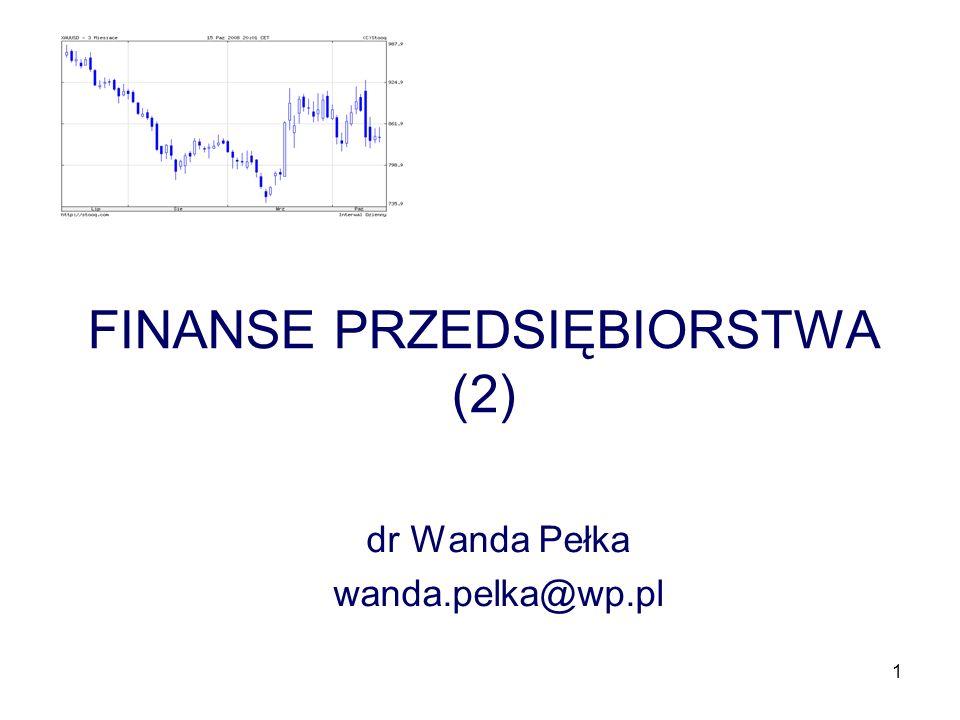 FINANSE PRZEDSIĘBIORSTWA (2)