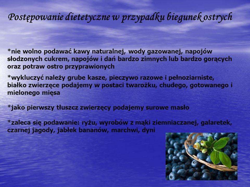 Postępowanie dietetyczne w przypadku biegunek ostrych