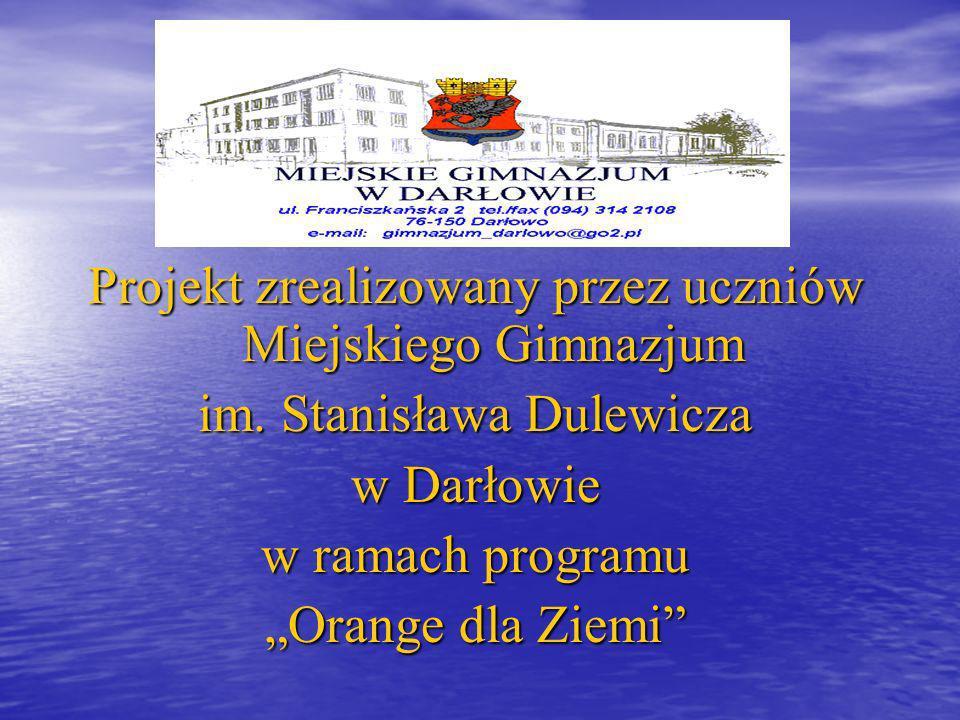 Projekt zrealizowany przez uczniów Miejskiego Gimnazjum