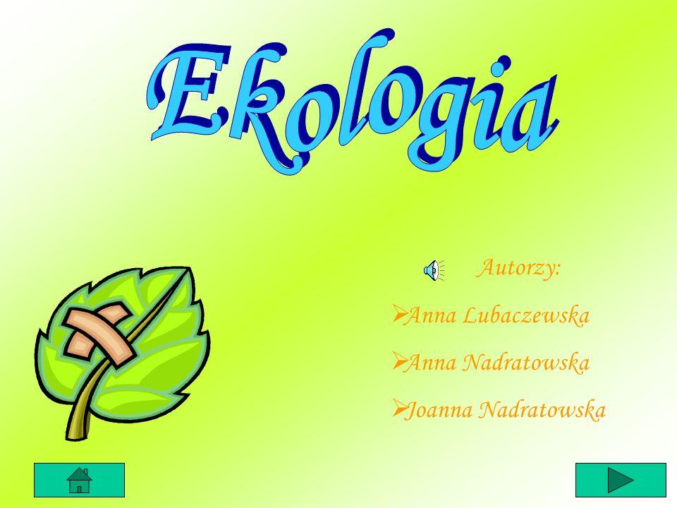 Ekologia Autorzy: Anna Lubaczewska Anna Nadratowska Joanna Nadratowska