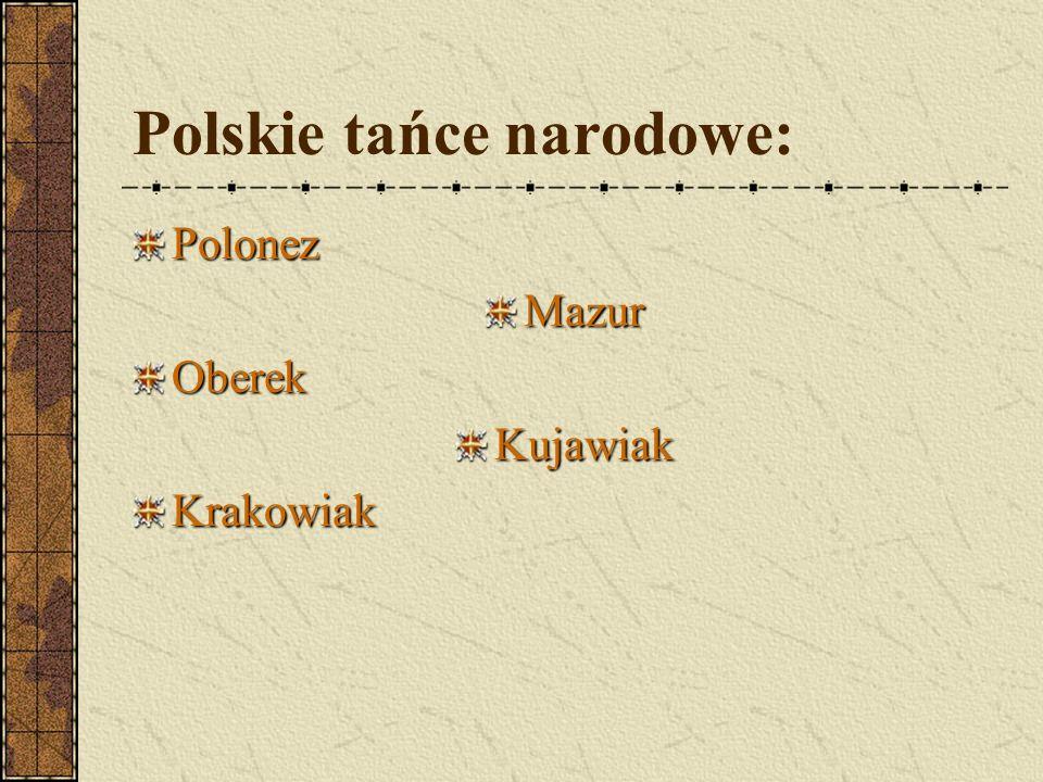 Polskie tańce narodowe: