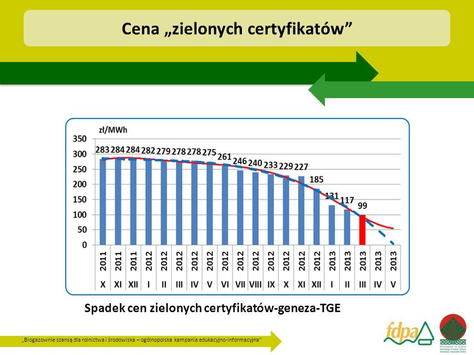 """Cena """"zielonych certyfikatów"""