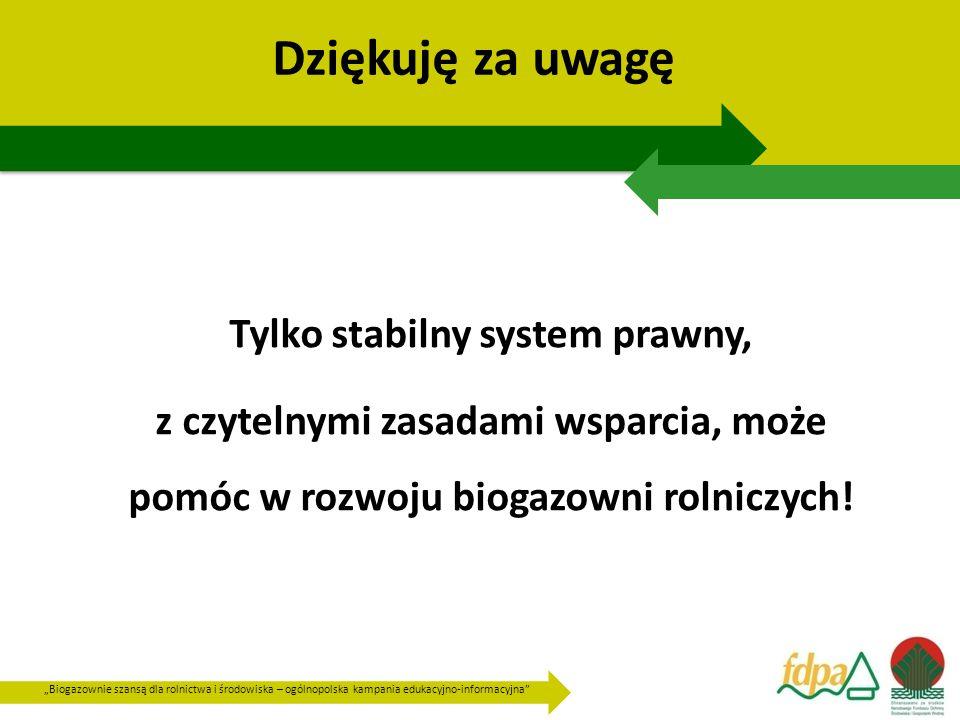 Tylko stabilny system prawny,