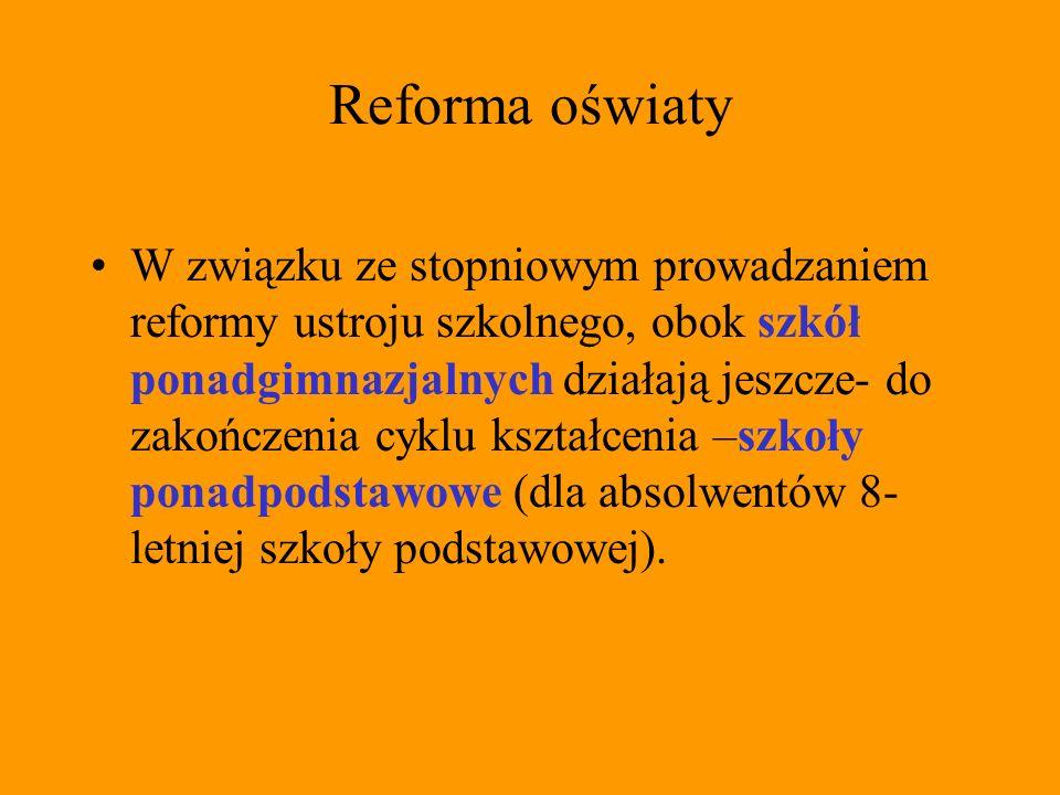 Reforma oświaty