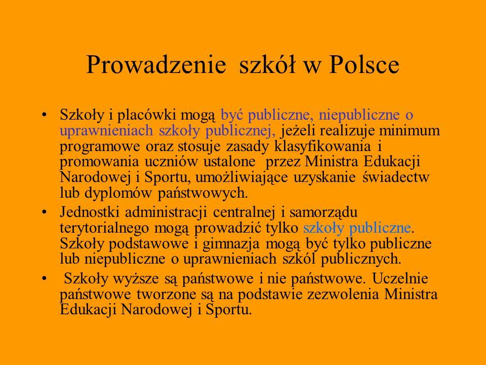 Prowadzenie szkół w Polsce