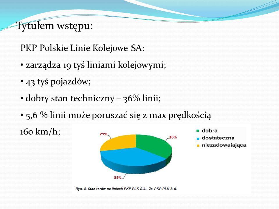 Tytułem wstępu: PKP Polskie Linie Kolejowe SA: