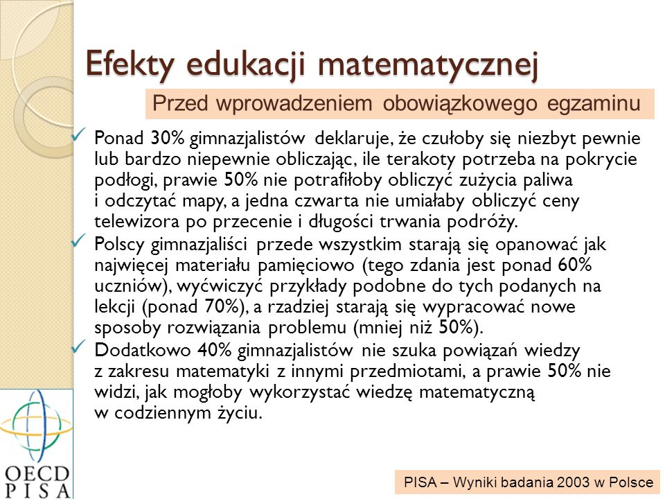 Efekty edukacji matematycznej