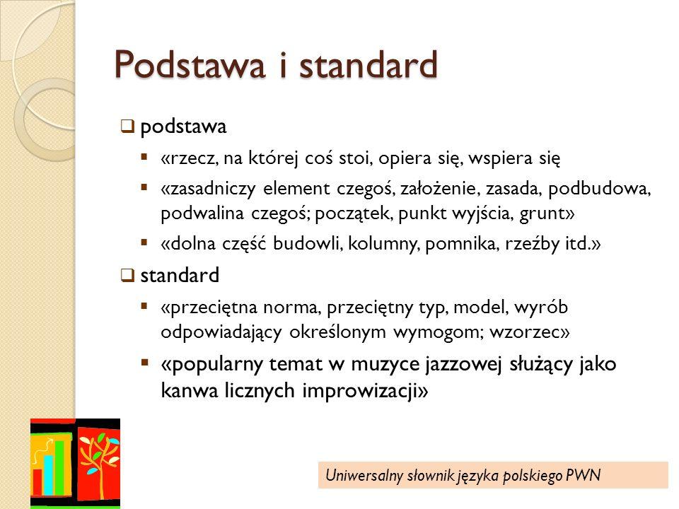 Podstawa i standard podstawa standard