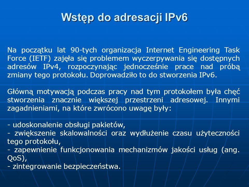 Wstęp do adresacji IPv6