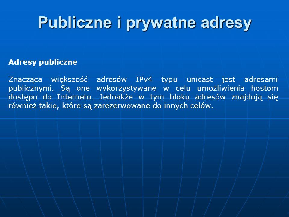 Publiczne i prywatne adresy