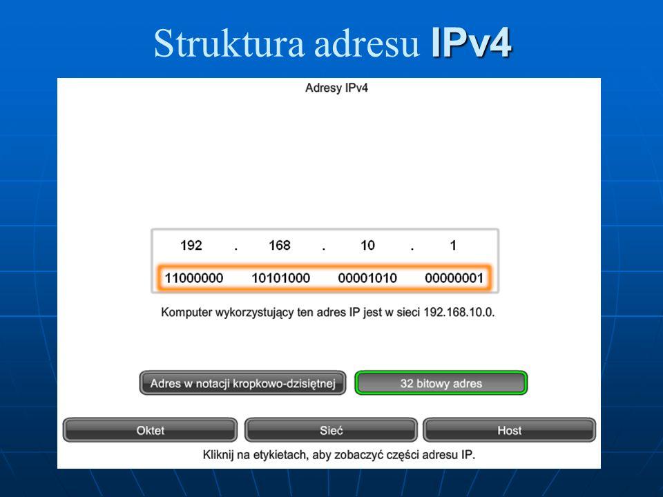 Struktura adresu IPv4