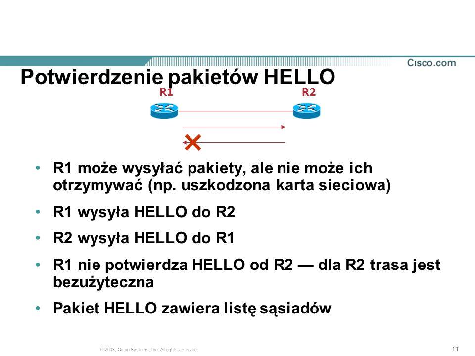 Potwierdzenie pakietów HELLO