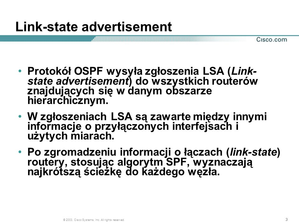 Link-state advertisement