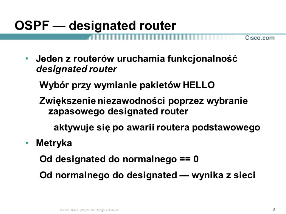 OSPF — designated router