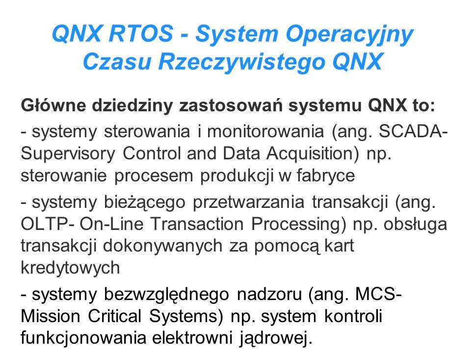 QNX RTOS - System Operacyjny Czasu Rzeczywistego QNX