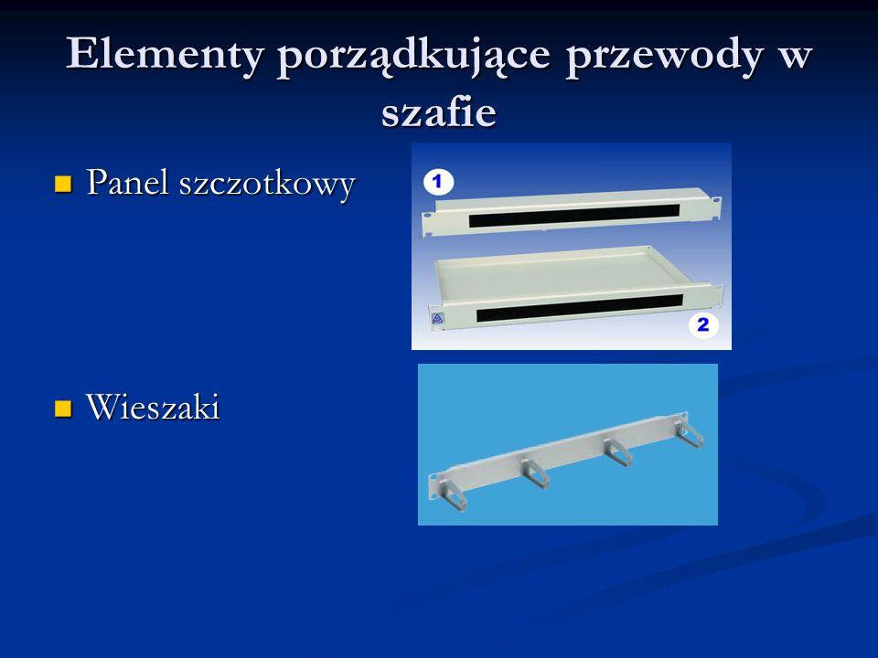 Elementy porządkujące przewody w szafie