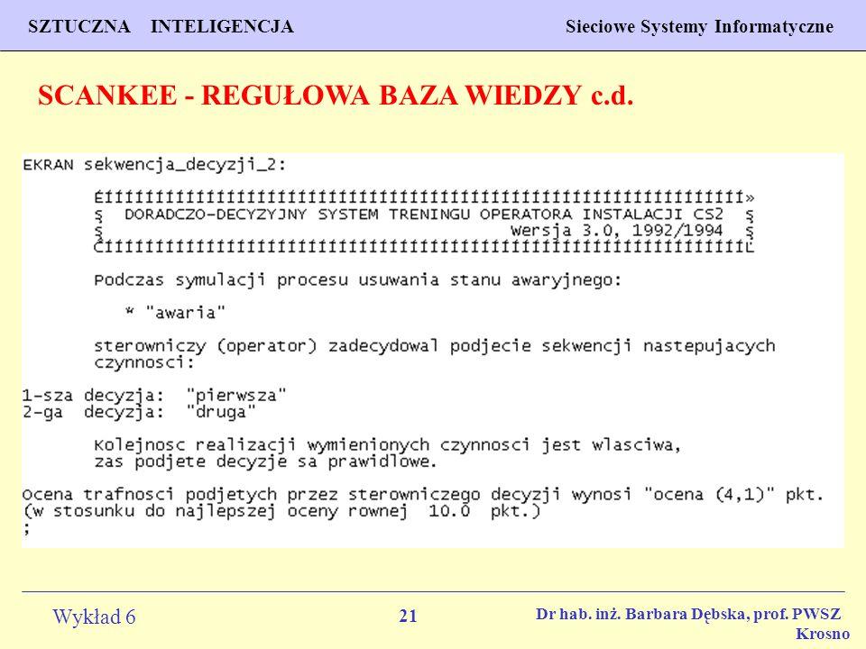 SCANKEE - REGUŁOWA BAZA WIEDZY c.d.
