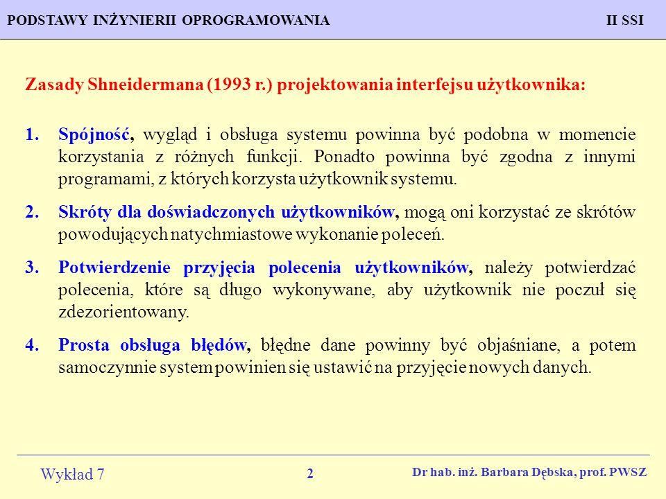 Zasady Shneidermana (1993 r.) projektowania interfejsu użytkownika: