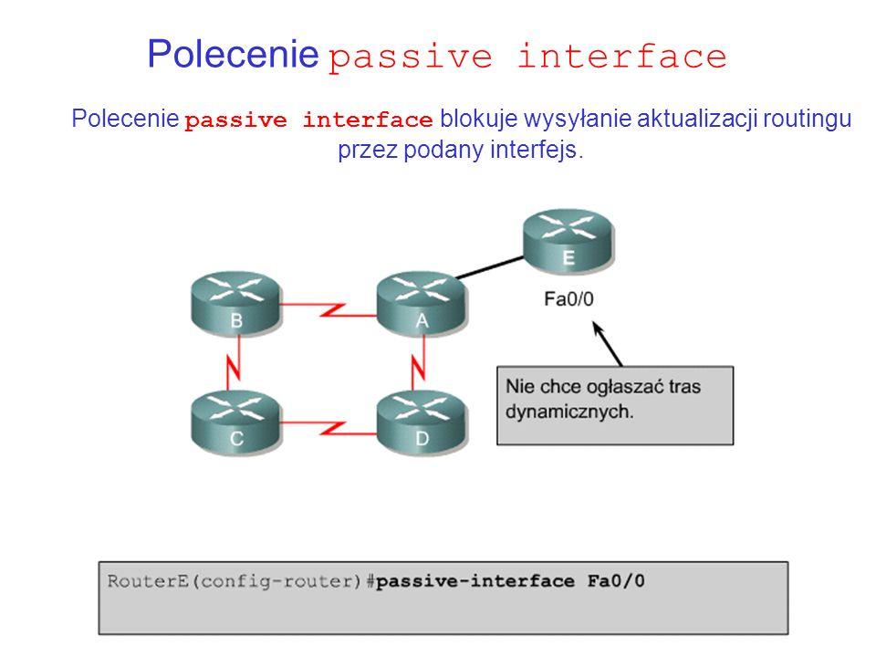Polecenie passive interface