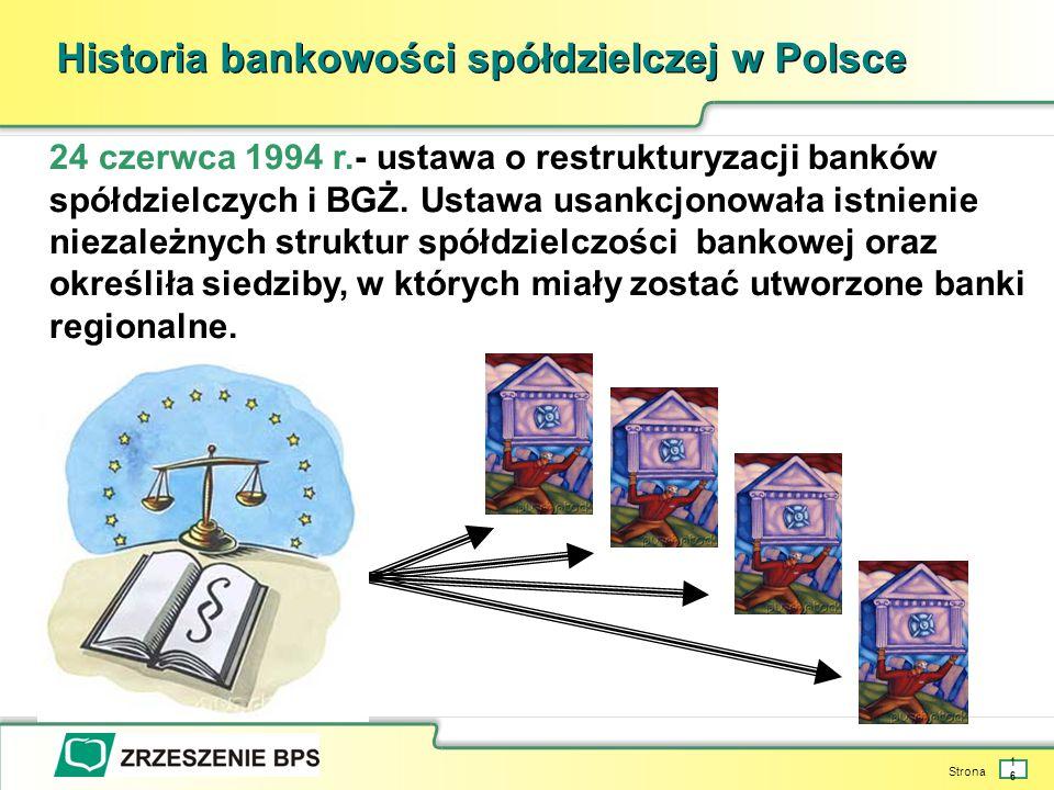 Historia bankowości spółdzielczej w Polsce