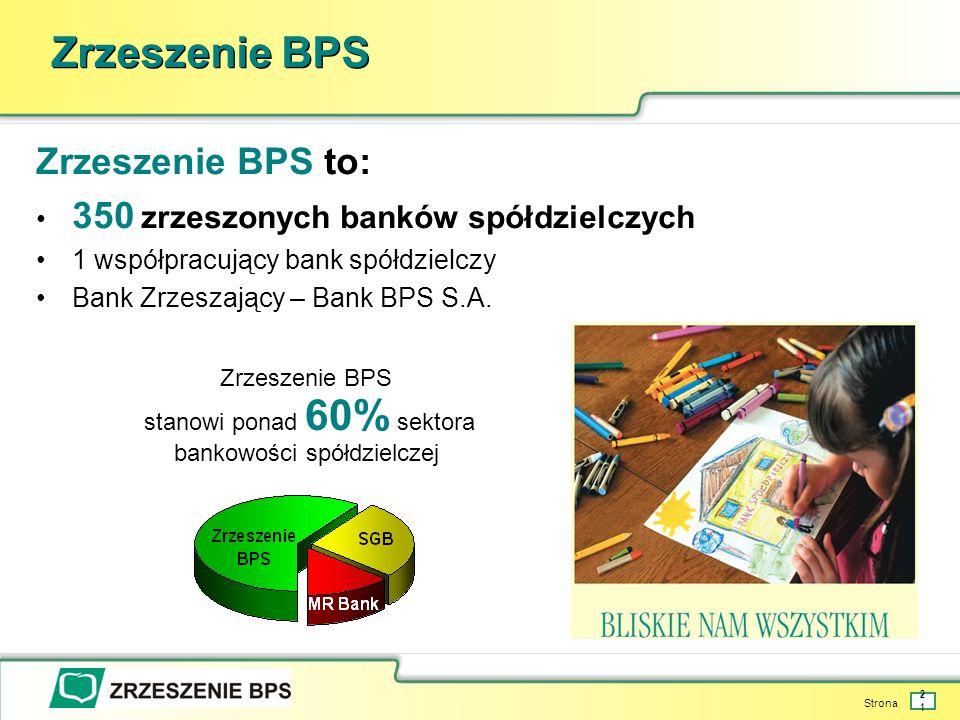stanowi ponad 60% sektora bankowości spółdzielczej