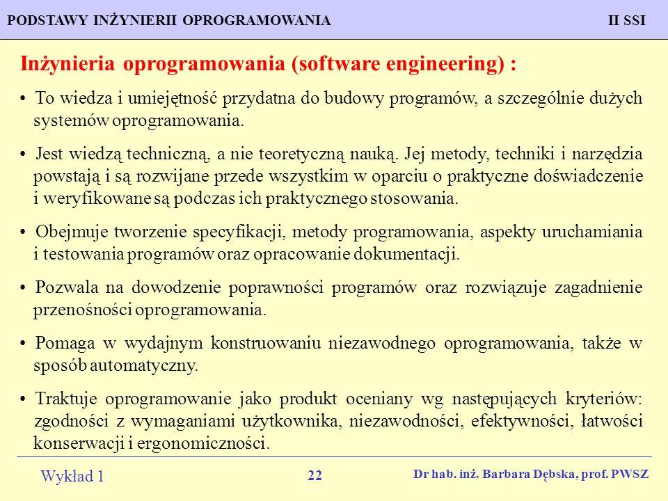 Inżynieria oprogramowania (software engineering) :