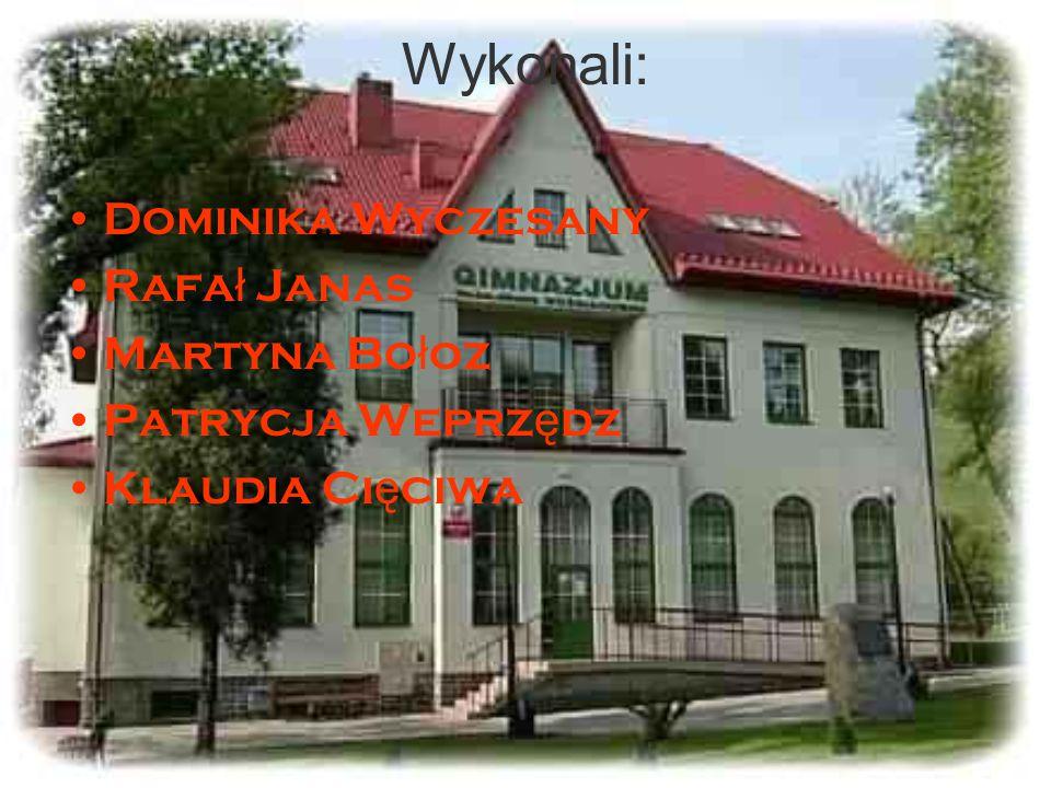 Wykonali: Dominika Wyczesany Rafał Janas Martyna Bołoz