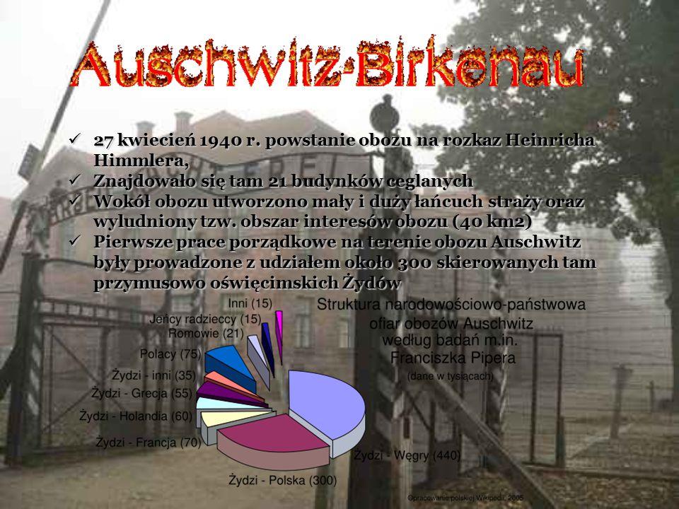 27 kwiecień 1940 r. powstanie obozu na rozkaz Heinricha Himmlera,