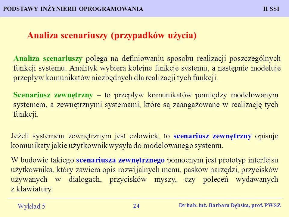 Analiza scenariuszy (przypadków użycia)