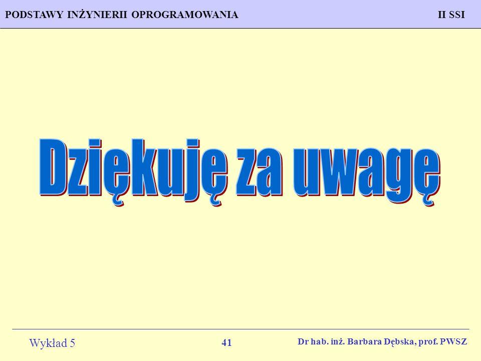 Dziękuję za uwagę Dr hab. inż. Barbara Dębska, prof. PWSZ