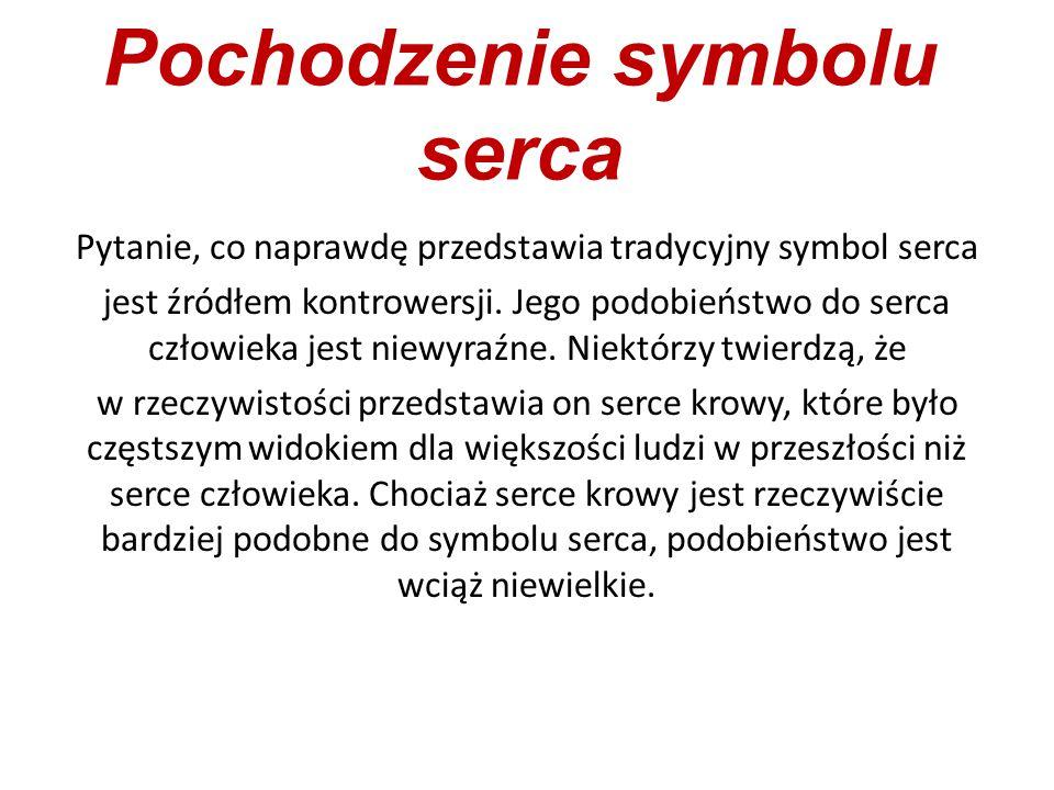 Pochodzenie symbolu serca