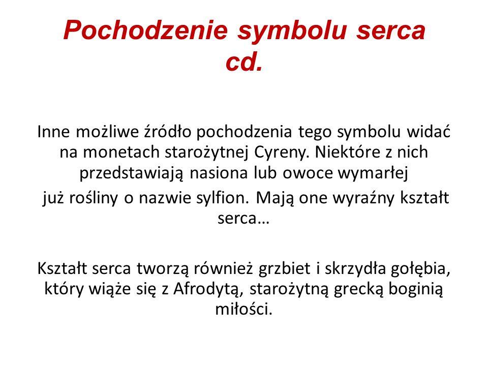 Pochodzenie symbolu serca cd.