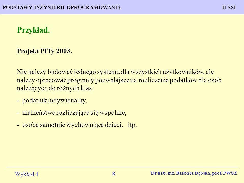 Przykład. Projekt PITy 2003.